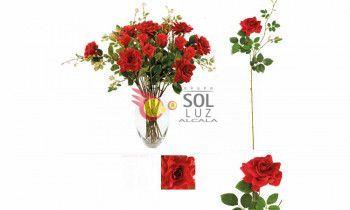 Rama de rosa roja