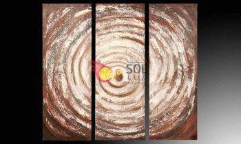 Cuadro triptico en color marrón