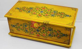 Baúl de la colección TESOROS DE INDIA en amarillo