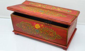 Baúl de la colección TESOROS DE INDIA en rojo