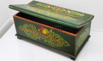 Baúl de la colección TESOROS DE INDIA en verde