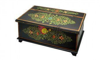 Baúl de la colección TESOROS DE INDIA en negro