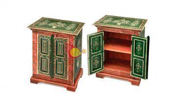 Mesilla de la colección TESOROS DE INDIA en verde