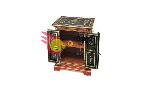 Mesilla de la colección TESOROS DE INDIA en negro