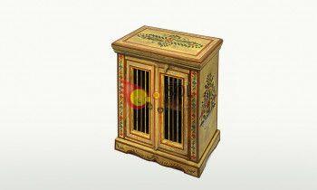 Mesilla de la colección TESOROS DE INDIA en amarillo