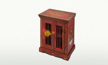 Mesilla de la colección TESOROS DE INDIA en rojo