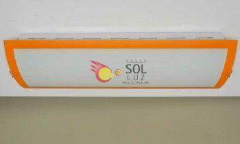 Plafón de bajo consumo para cocina en cristal con el filo naranja