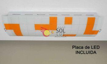 Plafón de cocina LED en naranja