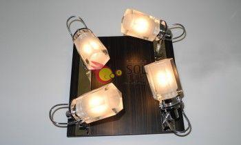 Plafón cuadrado 4 luces...