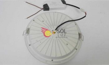 Downlight empotrable led redondo blanco