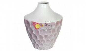 Jarrón de cerámica en blanco grande