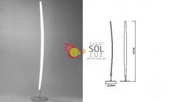 Lámpara de pie LED lineal de mantra