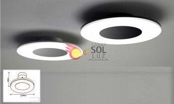 Plafón LED grande redondo en aluminio de mantra