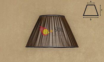 Pantalla de seda fruncida en color marrón 35cm