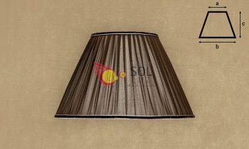 Pantalla de seda fruncida en color marrón 40cm