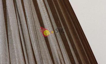 Pantalla de seda fruncida en color marrón 45cm