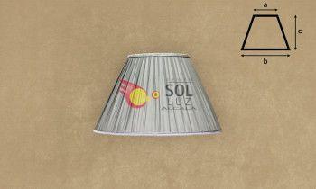 Pantalla de seda fruncida en color gris 25cm