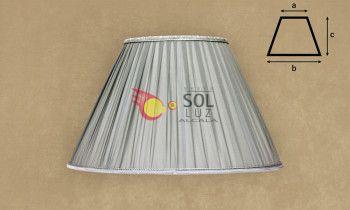 Pantalla de seda fruncida en color gris 45cm