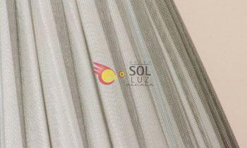 Pantalla de seda fruncida en color gris 50cm