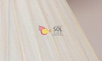 Pantalla tableada en color beige 20cm