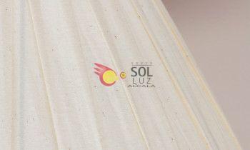 Pantalla tableada en color beige 50cm