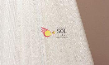 Pantalla de hilo en color blanco 25cm