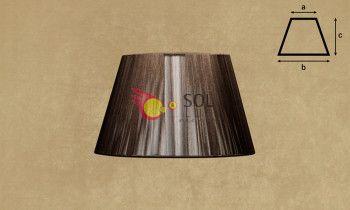 Pantalla de hilo en color marrón 30cm