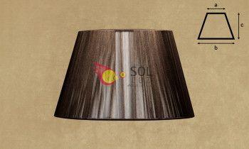 Pantalla de hilo en color marrón 40cm