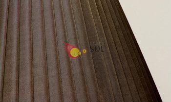 Pantalla tableada en color marrón 20cm
