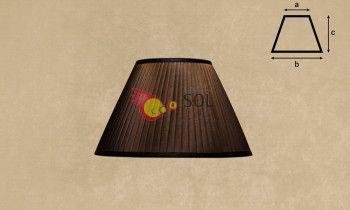 Pantalla tableada en color marrón 25cm