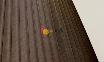 Pantalla tableada en color marrón 40cm