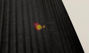 Pantalla tableada en color negro 15cm
