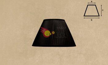 Pantalla tableada en color negro 20cm