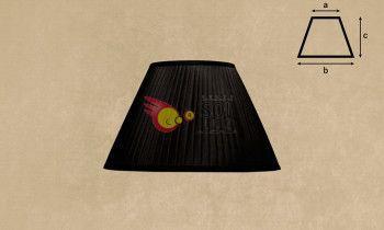 Pantalla tableada en color negro 25cm