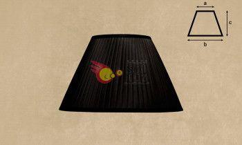 Pantalla tableada en color negro 30cm