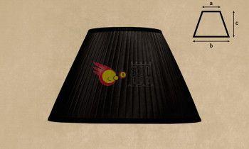 Pantalla tableada en color negro 40cm