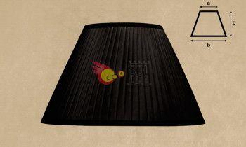 Pantalla tableada en color negro 45cm