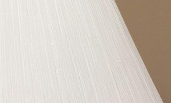 Pantalla fruncida en color blanco 15cm
