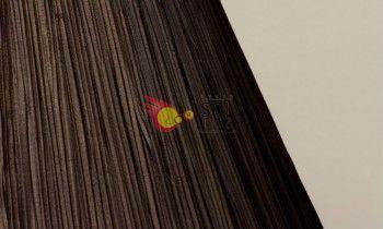 Pantalla fruncida en color marrón 20cm