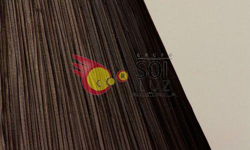 Pantalla fruncida en color marrón 25cm