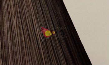 Pantalla fruncida en color marrón 35cm