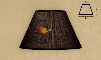 Pantalla fruncida en color marrón 40cm