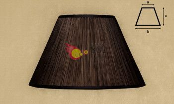 Pantalla fruncida en color marrón 45cm