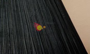 Pantalla fruncida en color negro 20cm