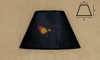 Pantalla fruncida en color negro 40cm