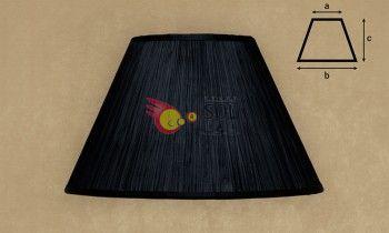 Pantalla fruncida en color negro 45cm