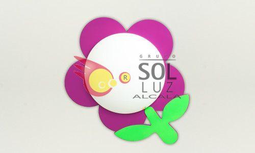 Plafón infantil con una flor rosa