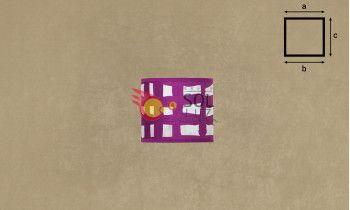 Pantalla cilindro de pergamino y tela morada