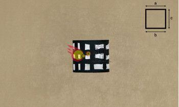 Pantalla cilindro de pergamino y tela negra