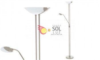Lámpara de pie LED en níquel de EGLO colección BAYA LED
